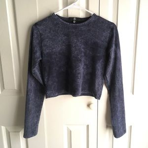 Blue Missguided crop top NWOT